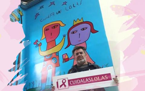 Arte Solidario en el Hospital Álvarez: Milo Lockett y Cuidalaslolas